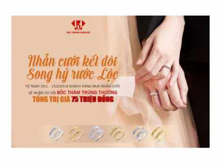 Nhẫn cưới kết đôi - Song hỷ rước lộc - Huy Thanh Jewelry tại Hồ Chí Minh
